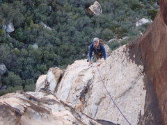 Rock Climbing Photo: Brett rounding the corner after traversing the roo...