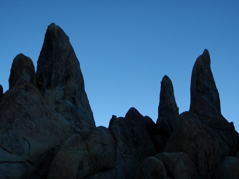 Rock Climbing Photo: Spires in the Alabama Hills