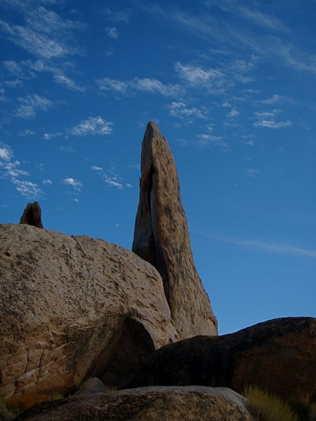 The Druid Stone and Golden Child, V9 on the left.