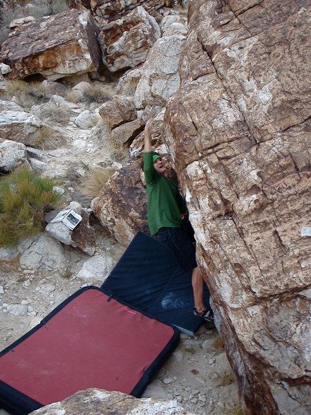 Rock Climbing Photo: Graham on a V3.