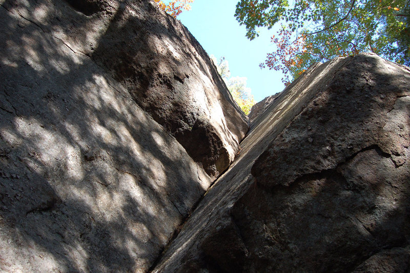 Rock Climbing Photo: A view of the book looking up from the base.