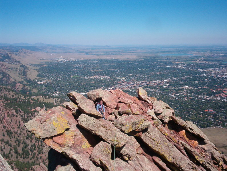 Almost at the summit of the First Flatiron, Boulder CO