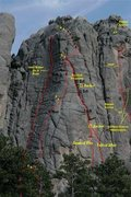 Rock Climbing Photo: White House Wall with Routes