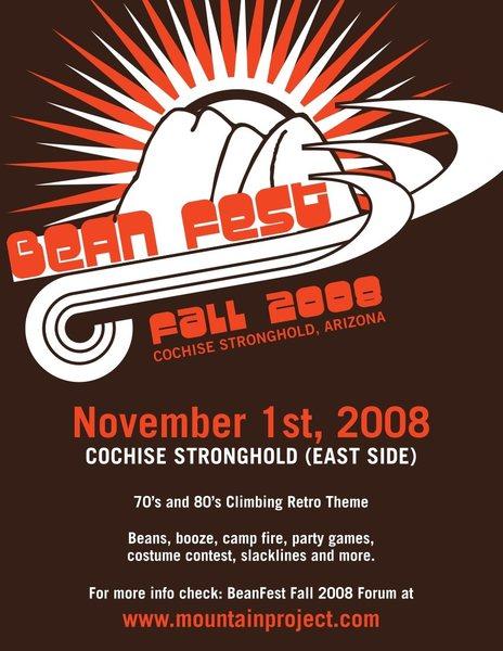 Rock Climbing Photo: Bean Fest Fall '08 (poster/flyer)
