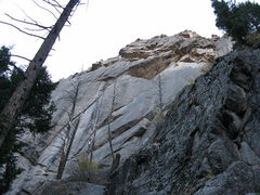 Rock Climbing Photo: The route as seen from the creek.