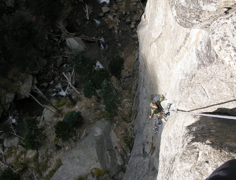 """Nathan following the """"3rd"""" pitch, I think it's most logical to link to where I stopped in one pitch instead of 2 as we did it or worse yet 3 as the original route did."""