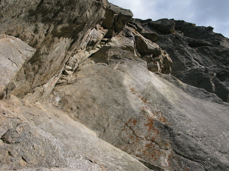 Rock Climbing Photo: Looking at the crux pitch, I think I can make out ...
