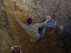 Rock Climbing Photo: Sending my first V4 at Black Mountain