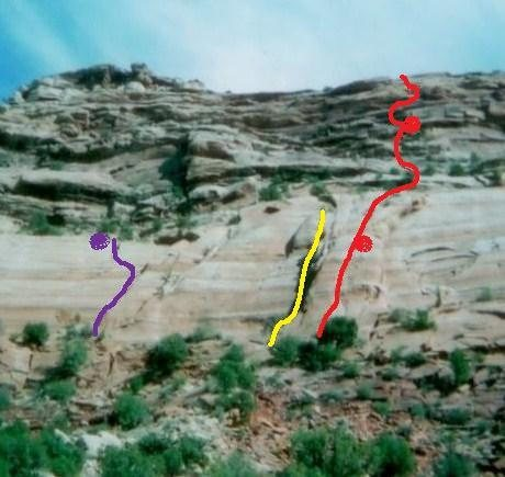 Rock Climbing Photo:  The purple line on the far left.
