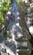 Rock Climbing Photo: Enjoying a perfect hand crack on the FA of Koopa T...