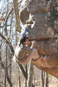 Rock Climbing Photo: Matthew Gant going for the top on Mulletino