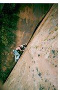 Rock Climbing Photo: Getting started on La Bonita.