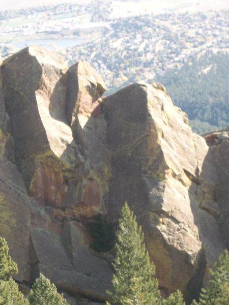 Rock Climbing Photo: Haywire and Lightning Bolt Arete.