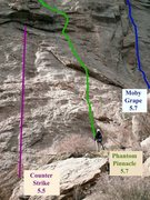 Rock Climbing Photo: 1st pitches of: Counter Strike (5.5) Phantom Pinna...