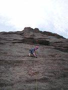 Rock Climbing Photo: Counter Strike (5.5) Dan's first lead!