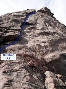 Rock Climbing Photo: Overleaf follows the obvious line up the dihedral ...