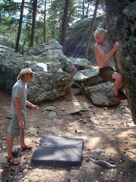 Rock Climbing Photo: Campground Boulder 1