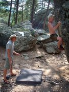 Rock Climbing Photo: Campground Boulder 1