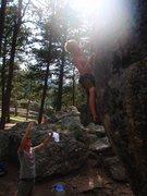 Rock Climbing Photo: Campground Boulder 2