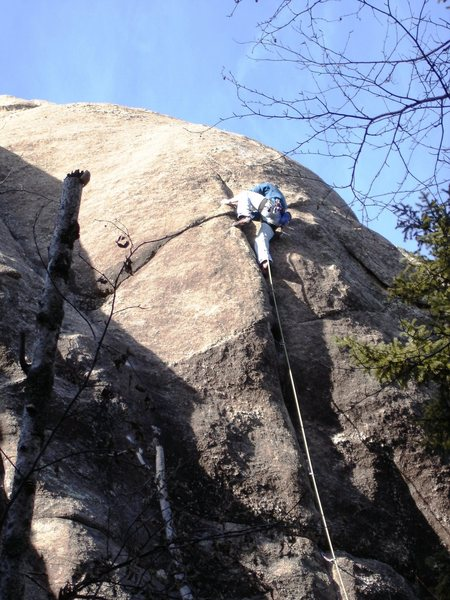 "Rock Climbing Photo: 2ME maintaining the proper hip motion on ""Lov..."