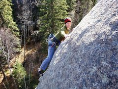 Rock Climbing Photo: Eric experiencing the post loving touchy, feely cu...