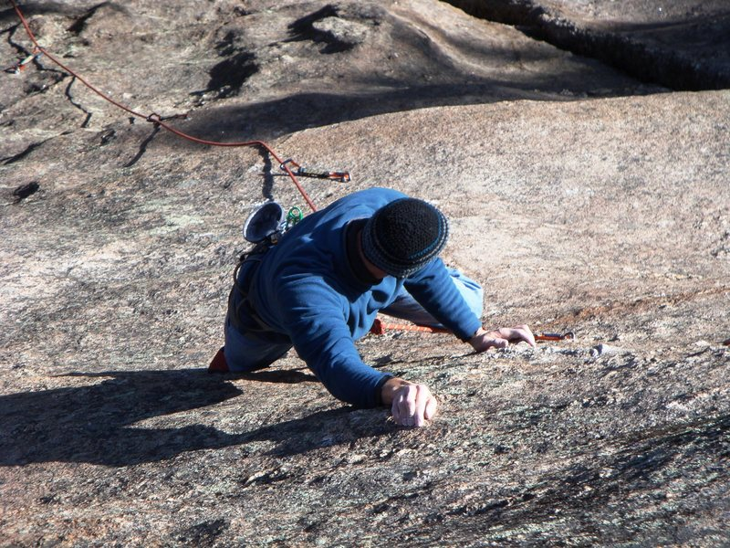 Rock Climbing Photo: 2ME getting in touch with the mornings warmup rout...