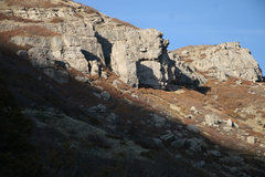 Rock Climbing Photo: The crag from the road.