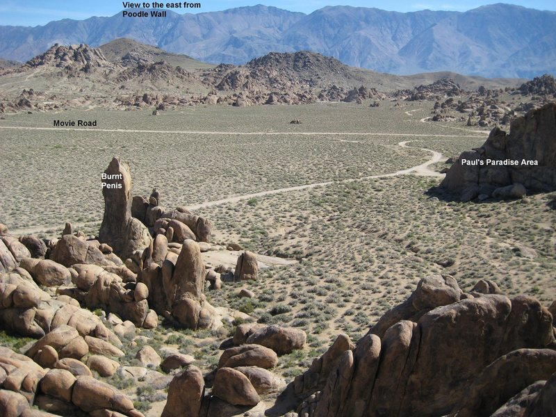 Rock Climbing Photo: View to the East from Poodle Wall, showing Movie R...
