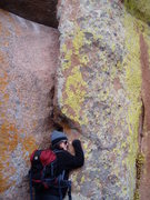Rock Climbing Photo: She sure did love that crack... even after it trie...
