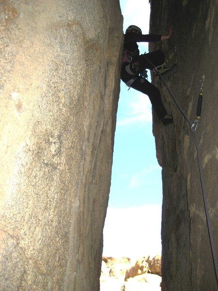 Rock Climbing Photo: Em Holland leading Drop Out, February 2008. Photo ...