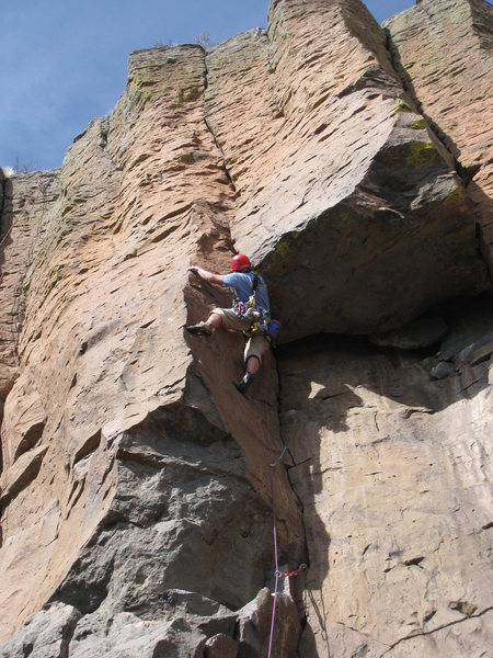 Rock Climbing Photo: Getting ready to pass the roof.