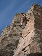Rock Climbing Photo: Past the tricky gear and trickier climbing down lo...