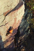 Rock Climbing Photo: Devils Lake. Crux of Gill's Nose. Paul Wagener bel...