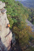 Rock Climbing Photo: Devils lake. Topping out on Gills Nose. Photo Isaa...