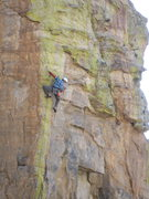Rock Climbing Photo: Jesse getting close to the redpoint of Kings Arete...