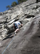 Rock Climbing Photo: Starting the fun overlap on the Dihedral, Oct. 08