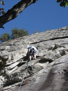 Rock Climbing Photo: mid overlap on the Dihedral Oct. 08