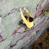 Devils Lake. Lost Face Overhangs. Henning Boldt pulling the crux. October '08.