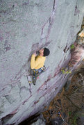 Rock Climbing Photo: Devils Lake. Lost Face Overhangs. It ain't over 't...