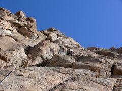 Rock Climbing Photo: Starting up pitch one.
