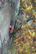 Rock Climbing Photo: Devils Lake. Perverted Inspiration. Pumpy pro plac...