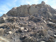 Rock Climbing Photo: Post October 2008 fire.  The Front wall / Jesus Wa...
