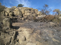 Rock Climbing Photo: Stoney Fire Oct 2008 - Back Wall area