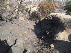 Rock Climbing Photo: Stoney Fire Oct 2008 - backside