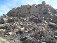 Rock Climbing Photo: Stoney Fire Oct 2008 - Jesus wall / front wall