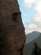 Rock Climbing Photo: Edge of Time:  Jurassic Park, Estes Park, Colorado