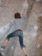 Rock Climbing Photo: Heidi workin twisted