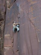 Rock Climbing Photo: Josh Merriam leading Mantle Illness with style