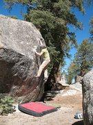 Rock Climbing Photo: Euan on the Hundred Knobs Problem (V2), Black Moun...