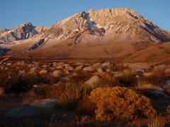 Rock Climbing Photo: Mount Humphreys (left) and Basin Mountain, a coupl...